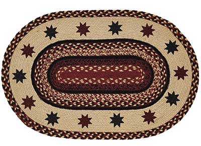 Carson Star Braided Rug, Oval (20 x 30 inch)
