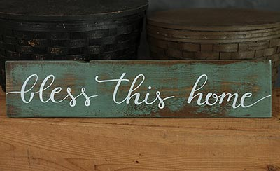 Bless This Home Wooden Sign