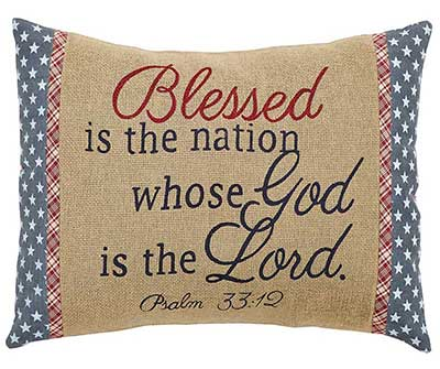 Independence Blessed Decorative Pillow