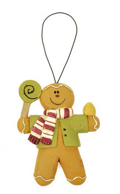 Gingerbread with Lollipop Ornament