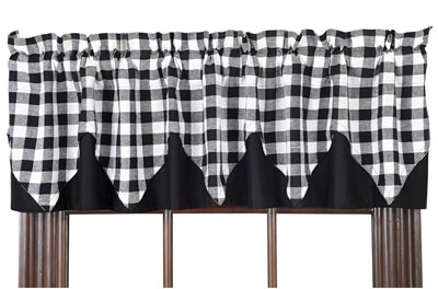 Buffalo Check Black Valance - Layered