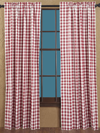 Buffalo Check Red Panels - 63 inch