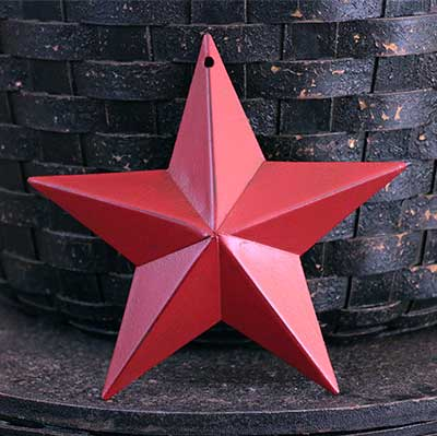 Cranberry Red Barn Star - 5 inch