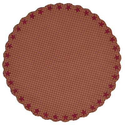 Burgundy Star Round Tablecloth - 70 inch