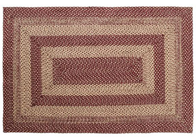Burgundy and Tan Jute Rug - Rectangle (Special order Sizes)
