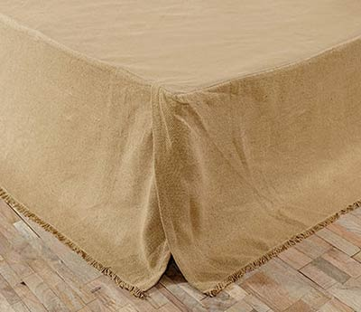 Deluxe Burlap Bed Skirt