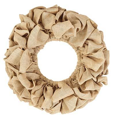 Burlap Wreath - Natural (20 inch)