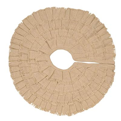 Deluxe Burlap Creme Christmas Tree Skirt