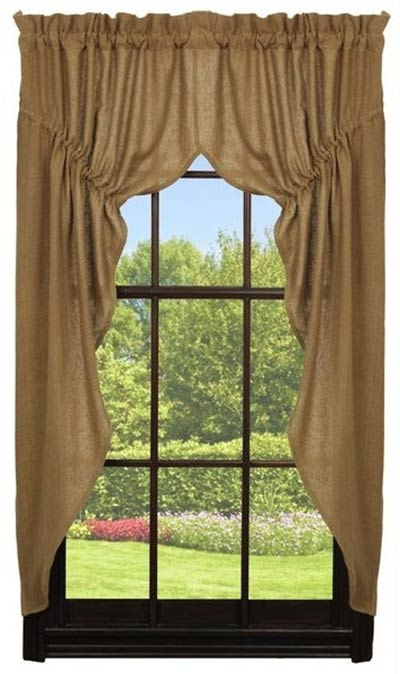 Deluxe Burlap Prairie Curtain By Olivia S Heartland The