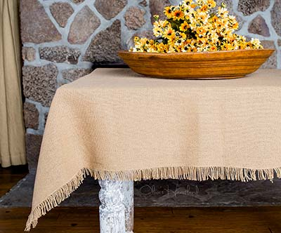 Deluxe Burlap Tablecloth - 60 x 80 inch