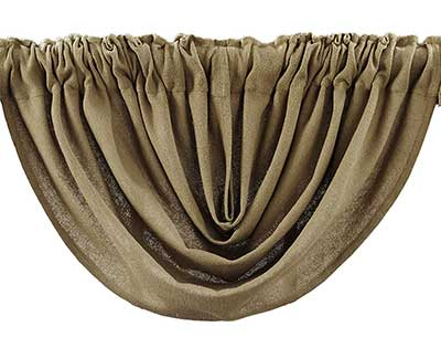 Burlap Natural Valance - Balloon