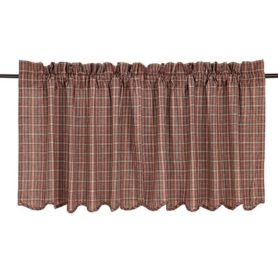 Canavar Ridge Plaid Cafe Curtains - 24 inch Tiers