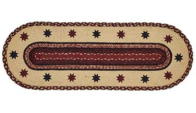 Carson Star Braided Table Runner, 36 inch
