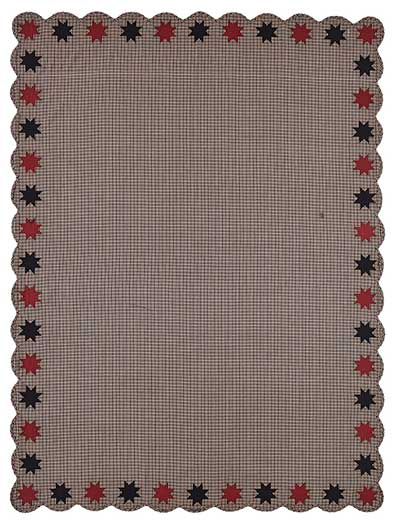 Carson Star Scalloped Table Cloth - 60 x 80 inch
