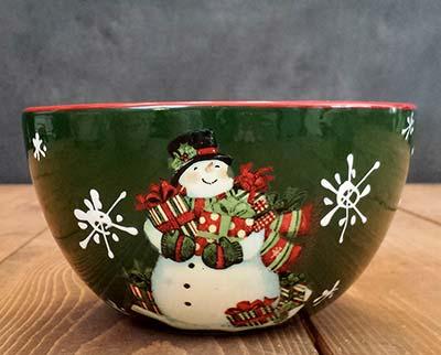 Vintage Snowman Bowl