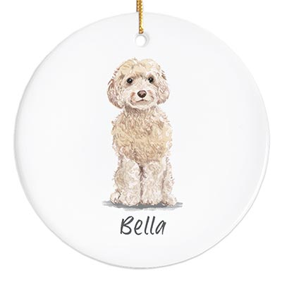 Cockapoo Personalized Ornament - Champagne