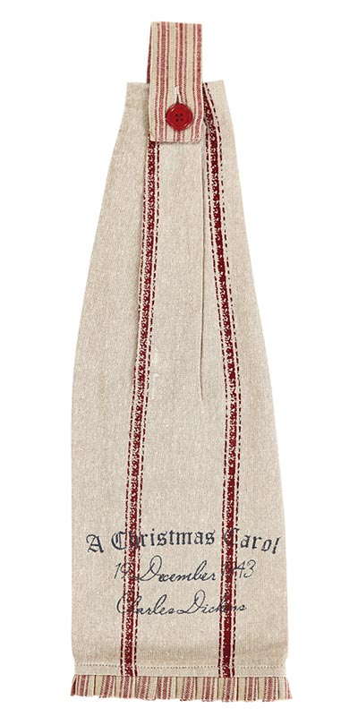 A Christmas Carol Button Loop Kitchen Towels (Set of 2)