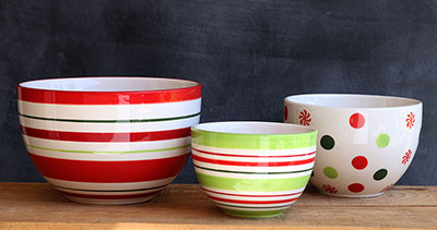 Peppermint Polka Dot Prep Bowl