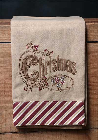 Christmas Candy Cane Towel