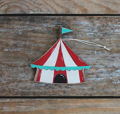 Circus Tent Ornament (Personalized)