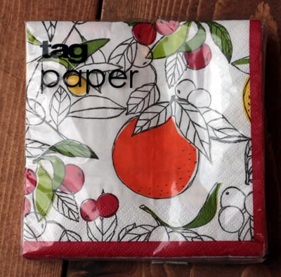 Citrus Kitchen Paper Cocktail Napkins