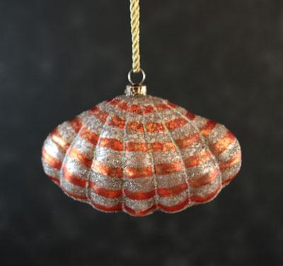 Clam Shell Ornament - Orange