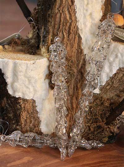 Spun Glass Icicle Ornament