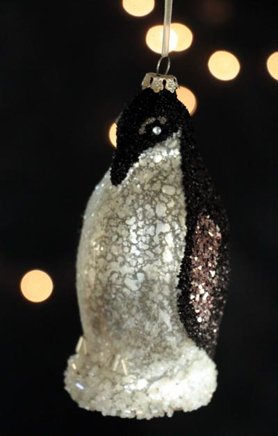 Penguin Glass Ornament