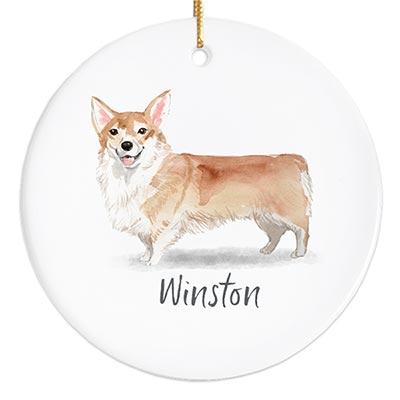 Corgi Personalized Ornament