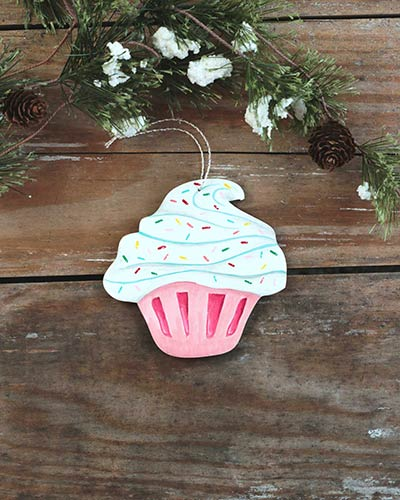 Cupcake Personalized Ornament