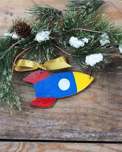 Rocket Ship Personalized Ornament