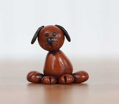 Brown Pup Figurine