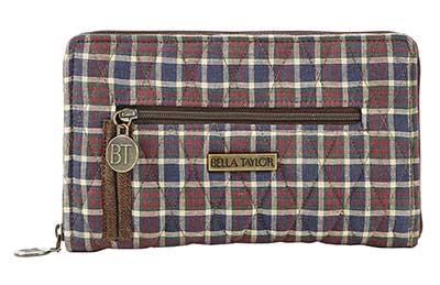 Downton Signature Zip Wallet