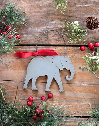 Elephant Ornament (Personalized)