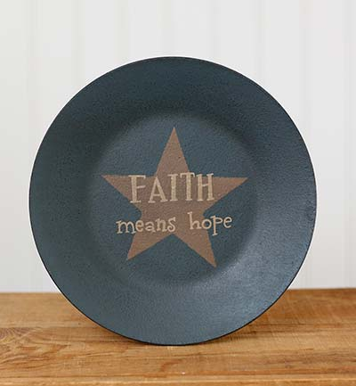 Faith Means Hope Plate with Star