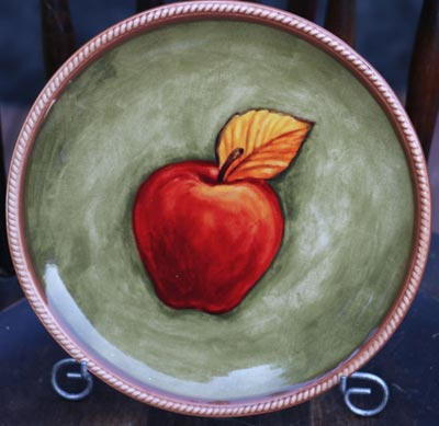 Red Apple Accent Plate