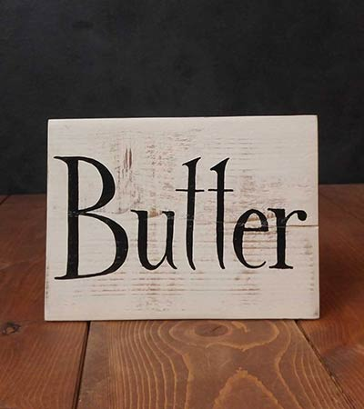 Butter Hand Lettered Wood Sign (Color Options Available)