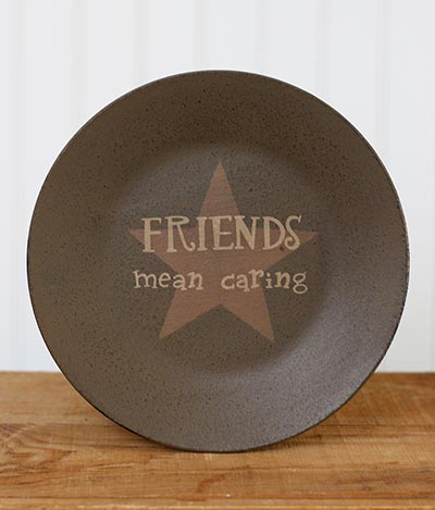 Friends Mean Caring Plate with Star