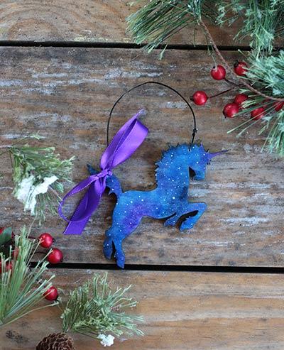 Galaxy Unicorn Ornament (Personalized)