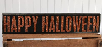 Happy Halloween Box Sign