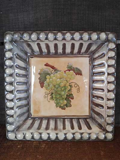 Meritage Grapes Plate - Green