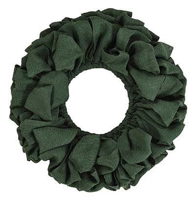 Burlap Wreath - Green (20 inch)