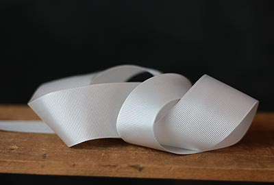 White Grosgrain Ribbon, 1-1/2 inch