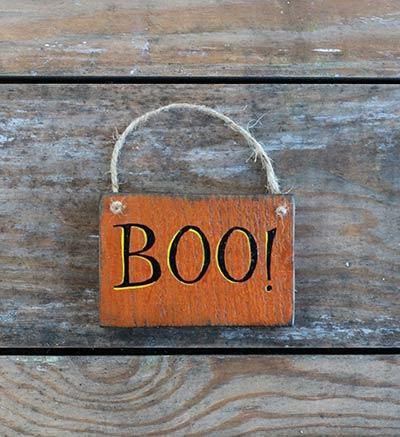 Boo Sign Ornament