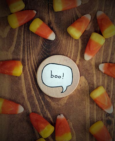Boo Speech Bubble Magnet or Pin