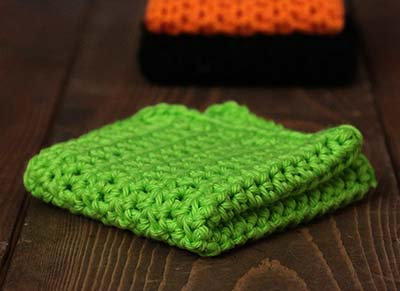 Lime Green Crochet Dish Cloth