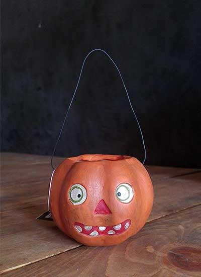 Vintage Pumpkin Basket