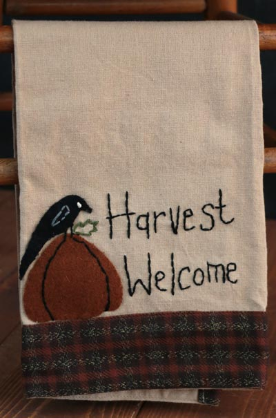 Harvest Welcome Dishtowel
