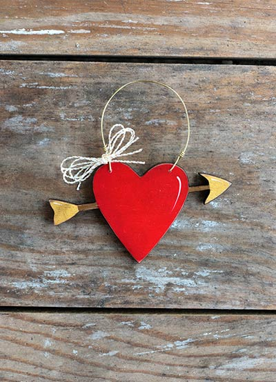 Heart with Arrow Personalized Ornament