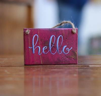 Hello Sign Ornament